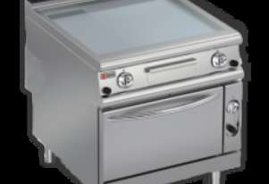 Baron 90FTTF/G820 2/3 Smooth 1/3 Ribbed Mild Steel Gas Griddle with Gas Oven