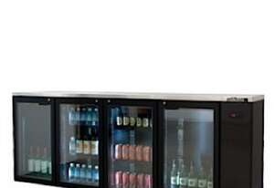 Williams HCS4RGDSS Cameo Star Glass 4 Door Refrigerator