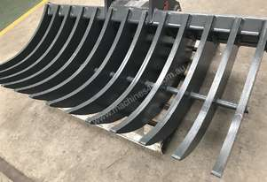 ROO ATTACHMENTS - STICK RAKE 1600 MM WIDE TO SUIT 12 TO 13 TO 14 TON EXCAVATOR