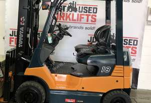 TOYOTA 7FB18 1.8 TON 1800 KG CAPACITY ELECTRIC FORKLIFT