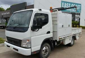 2007 MITSUBISHI FUSO CANTER Tray Top Crane Truck Service Vehicle