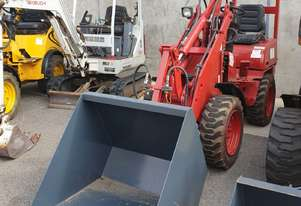 UNUSED HT25 Articulated Mini Wheel Loader powered by Perkins Engine with GP Bucket & Pallet Fork