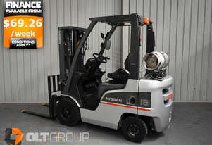 Nissan P1F1A18DU 1.8 Ton Forklift LPG Sideshift Container Mast REDUCED