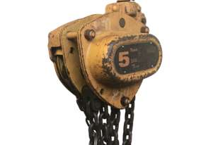 Chain Hoist Block and Tackle 5 ton x 8mm Drop PWB Anchor M3050