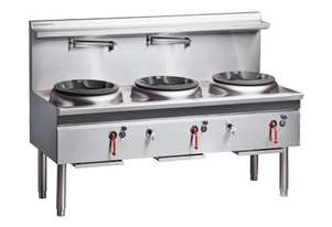 COBRA CW3H-CCC - 1800MM GAS WATERLESS WOK WITH 3 CHIMNEY BURNER