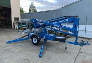 Genie TZ34 Trailer Mounted Boom Lift for hire