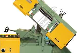 BS-10AS Semi - Automatic, Swivel Head Metal Cutting Band Saw 4 Cutting Speeds, Mitre Cuts Up To 45º