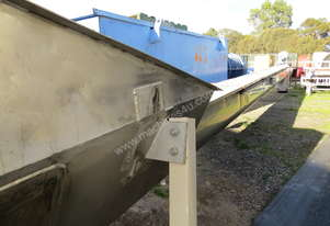 SCREW CONVEYOR - STAINLESS STEEL 9.5 MTR F.Miller. SOLD PENDING DELIVERY