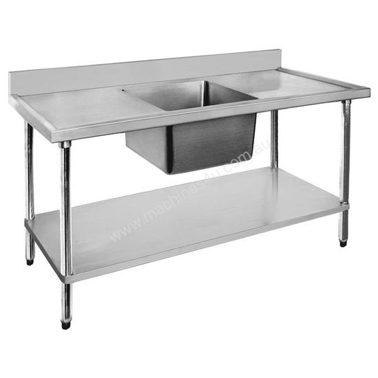 F.E.D. Economic 304 Grade SS Single Sink Benches 1800x600x900 with 610x400x250 sink