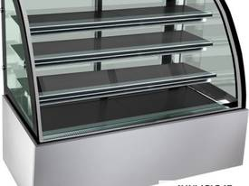 Bonvue Chilled Curved Glass Food Display - 1200mm