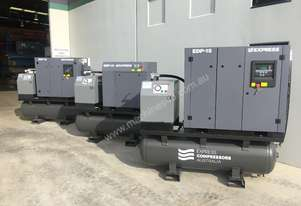 11kW (15HP) Compressor Packaged with tank & dryer