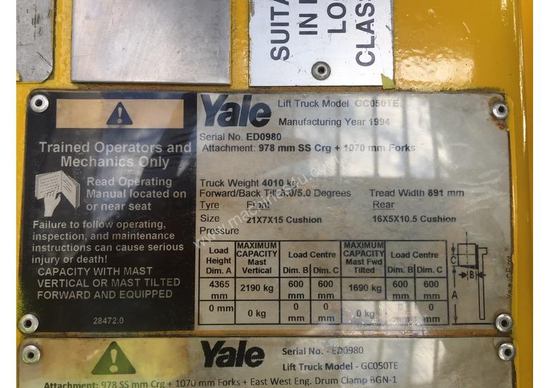 YALE FD25C Flameproof with Container Mast