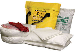 Oil & Fuel Spill Kit. 58L absorbent capacity. Portable canvacon bag. Ideal for trucks & vans