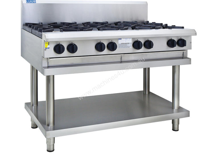 8 Burner Cooktop with flame failure, legs & shelf