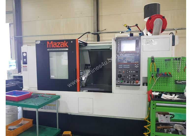 Used mazak 2015 Mazak Quick Turn Smart 200 CNC Lathe CNC