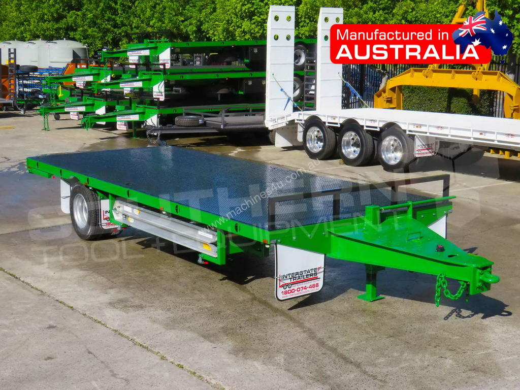 New 2019 Interstate Trailers 9 Ton Single Axle Flatbed Trailer Atttag Tag Trailers In Listed On Machines4u