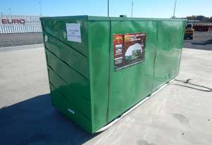 LOT # 0241Double Trussed Container Shelter PVC