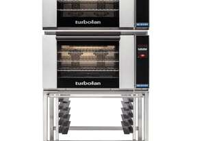 Turbofan E28T4/2 - Full Size Electric Convection Ovens Touch Screen Control Double Stacked on a Stai