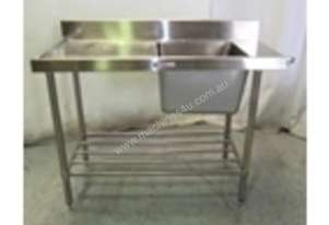 1200mm w x 600mm d x 900mm h (37Kg)  Left hand Fee