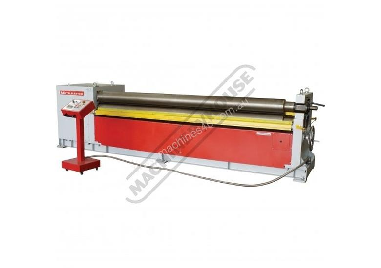 AR-2506 Motorised Plate Curving Rolls 2550 x 6mm Mild Steel Capacity Initial Pinch Design