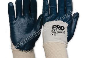 3/4 Nitrile Dipped Cotton Glove Blue