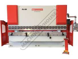 PB-200B Hydraulic NC Pressbrake 220T x 4000mm Estun NC-E21 Control 2-Axis with Hardened Ballscrew Ba - picture0' - Click to enlarge