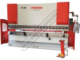 PB-200B Hydraulic NC Pressbrake 220T x 4000mm Estun NC-E21 Control 2-Axis with Hardened Ballscrew Ba - picture2' - Click to enlarge