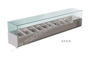 F.E.D. VRX2000/380 DELUXE Pizza / Sandwich Bar Prep Top - 2000mm