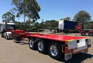 2015 CIMC 40' Drop Deck Skeletal Trailer