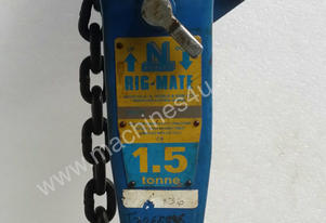 Lever Hoist Block 1.5 ton x3 mtr Block and Tackle