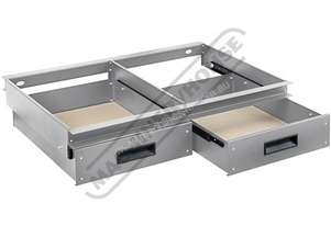 RSS-2D 2 x Slide Out Drawer System - Suits Industrial Racking  30kg Load Capacity per Drawer Suits R
