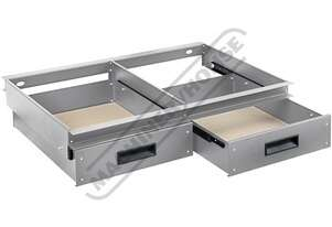 RSS-2D 2 x Drawer System - Suits Industrial Steel Shelving 30kg Load Capacity per Drawer Suits RSS-4