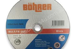 BOHRER 230MM (9'') CUTTING DISC 10 PacK