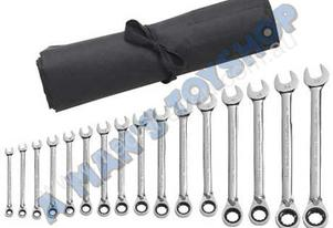 SPANNER RATCHET SET METRIC REV 16PC