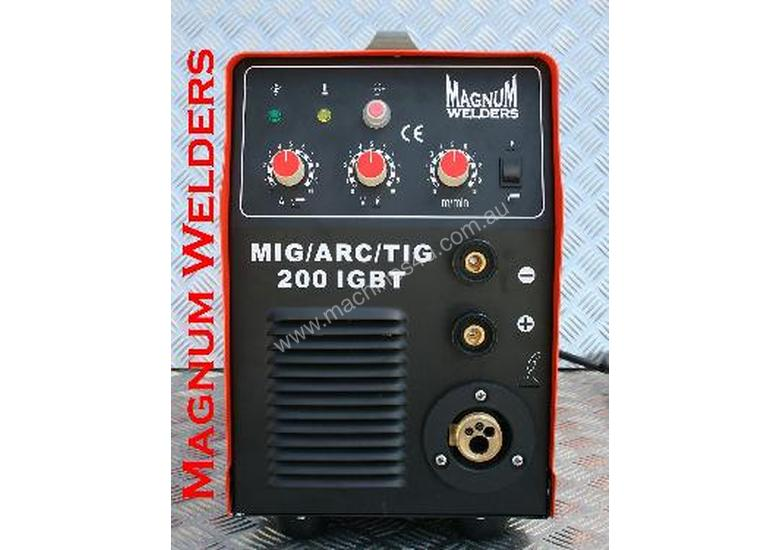 Magnum Welders Mig/Arc/DC Tig 200amp 4in1 Gassed & Gasless Welder $900