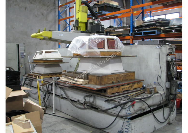 2 x cnc 5 axis router machines