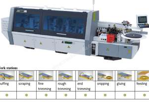 NANXING Touch Screen16-20-24 m/min 3 speed Automatic Edgebander  NB5J with Corner Rounding Machine