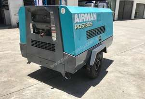 Airman PDS 185 CFM portable diesel air compressors on road tow chassis