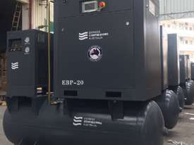 11kW - 58cfm Screw Compressor with tank and dryer (15hp) - picture0' - Click to enlarge