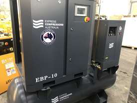 11kW - 58cfm Screw Compressor with tank and dryer (15hp) - picture2' - Click to enlarge