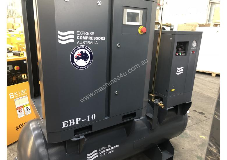 11kW - 58cfm Screw Compressor with tank and dryer (15hp)