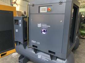 11kW - 58cfm Screw Compressor with tank and dryer (15hp) - picture3' - Click to enlarge