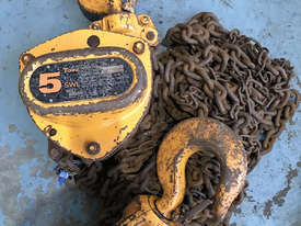 Chain Hoist Block and Tackle 5.0 ton x 6 mtr Drop PWB Anchor Lifting Crane PWB Anchor - picture3' - Click to enlarge