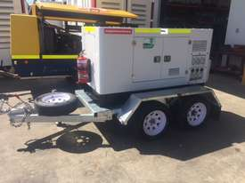15KVA Generator on Twin Axle Trailer - picture0' - Click to enlarge