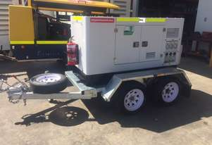 15KVA Generator on Twin Axle Trailer
