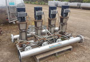 Grundfos pump bank/ HYDRO 2000 MF 4 x CR32-4 vertical mounted multistage, centrifugal in-line pump