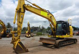 2014 Sumitomo SH235X-6 Steel Tracked Enclosed Cabin Excavator with Push Blade (EX27) - In Auction