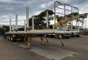 Flat bed Semi Trailer 40 foot  container locks