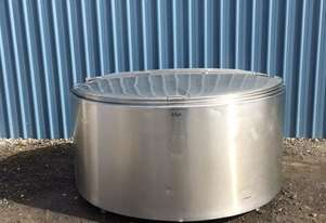 1,900ltr Jacketed Stainless Steel Tank, Milk Vat