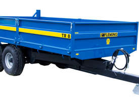 Fleming TR8 Trailer Farm Tipper/Trailer Hay/Forage Equip - picture0' - Click to enlarge